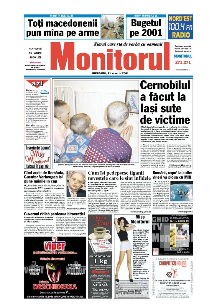 Monitorul din 21 martie 2001