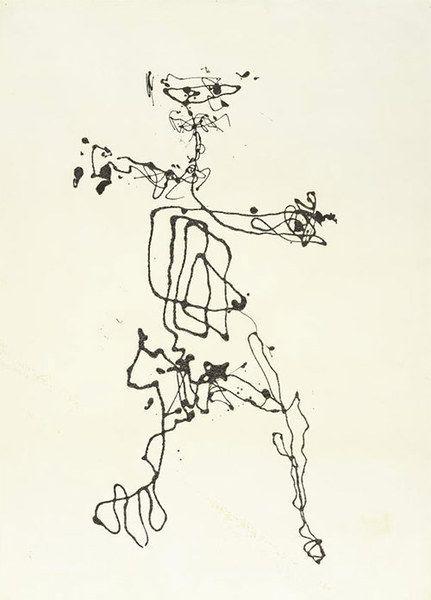 'Figure', Jackson Pollock, 1948