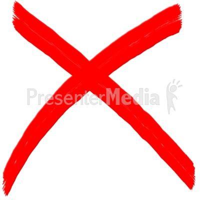 X Mark Painted Symbol PowerPoint Clip Art