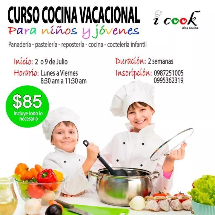 Pronto Terminan Las Clases E Inicia El Curso De Cocina Para Ninos
