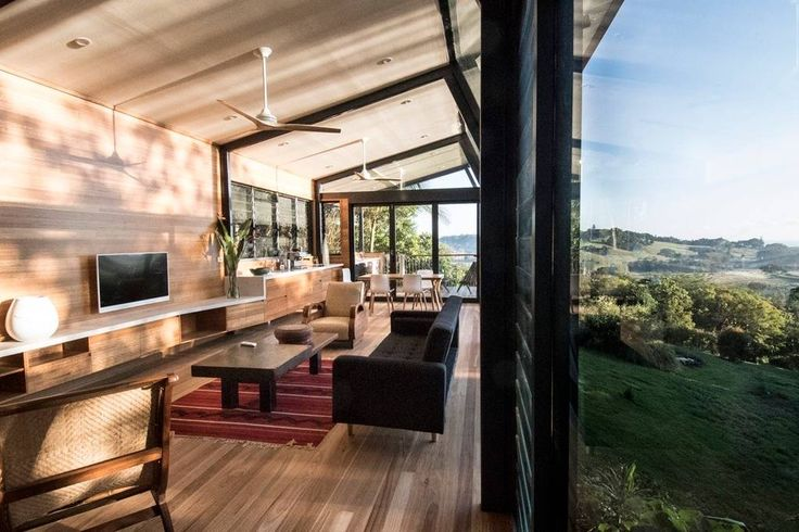 Entire home/apt in Coopers Shoot, AU. Perched high amongst the trees of the rain forest, this cutting edge  architect designed one bedroom home is newly constructed of Corten steel and glass. It offers a five star experience in the most accessible and beautiful area of the Byron hinte...