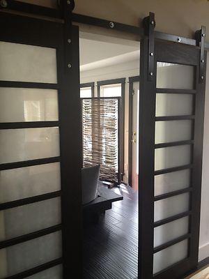 Beautiful Custom Sliding Shoji Doors with Barn Door Hardware | eBay