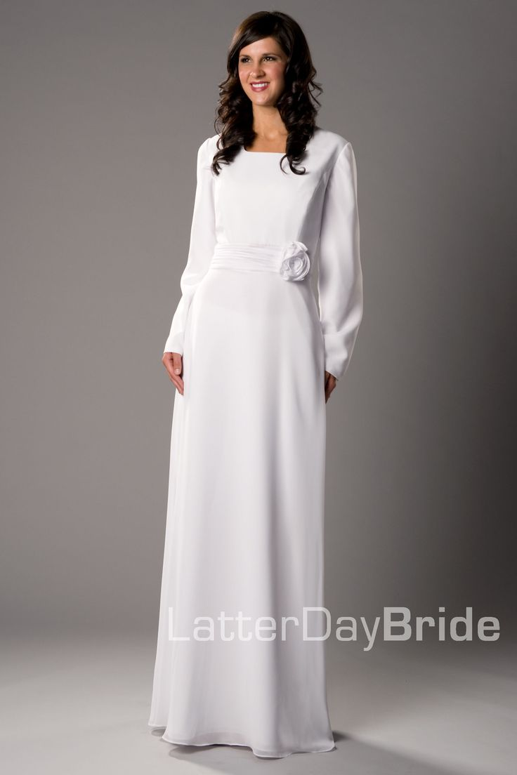 Modest wedding dress cardston latterdaybride prom for Mormon temple wedding dresses