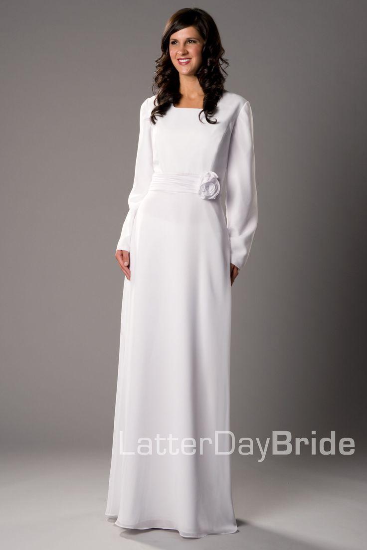 Modest wedding dress cardston latterdaybride prom for Cheap lds wedding dresses
