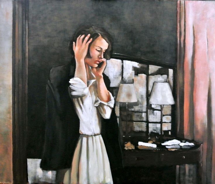 Early Call by Mila Posthumus. http://www.stateoftheart.co.za/art/painting/early-call-by-mila-posthumus/3087