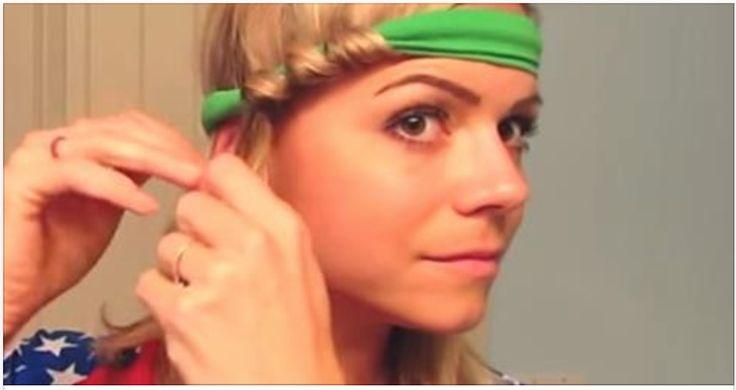 Ze gaat met een hoofdband op naar bed. De volgende ochtend staat ze beeldschoon op!