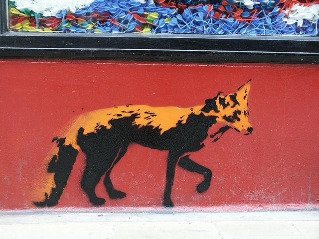 Margate street fox by Stewy.