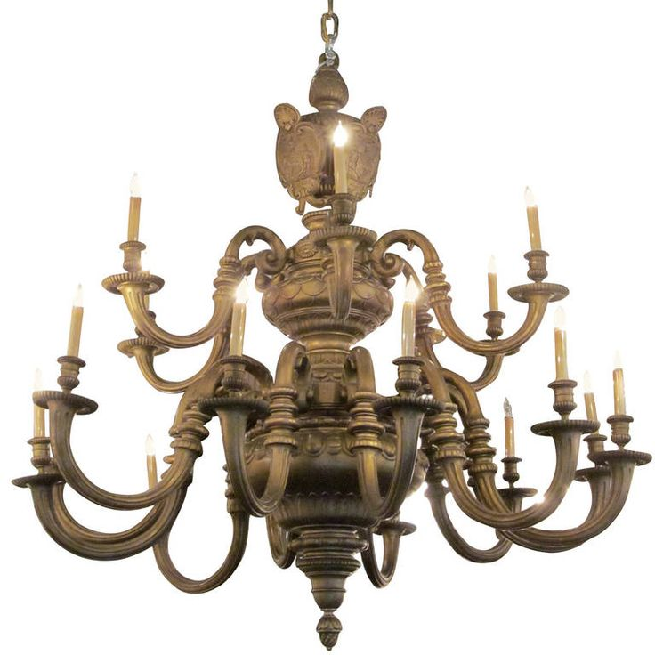 Massive Gilt Bronze American Baroque Style Chandelier from an NYC Building - 297 Best Chandeliers Images On Pinterest Pendant Lights, Modern