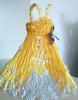 paper quilling dress