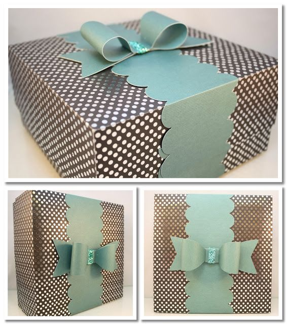 Bits of Paper: Large Gift Box Tutorial