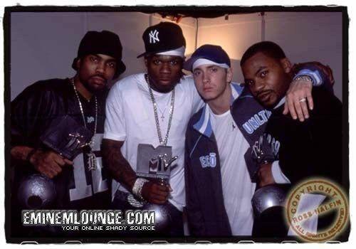 Eminem - Proof 50 cent eminem et Obie Trice aux mtv awards