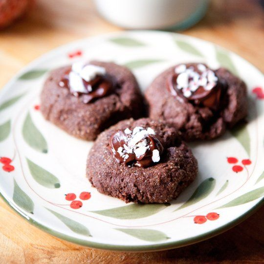 Recipe: Triple-Chocolate Peppermint Thumbprint Cookies Recipes from The Kitchn | The Kitchn