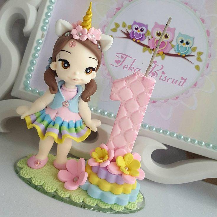 Bom dia !!!  #biscuit #porcelanafria #artesanato #veladebiscuit #veladecorada #velaunicornio #unicornio #bonecaunicornio #festaunicornio