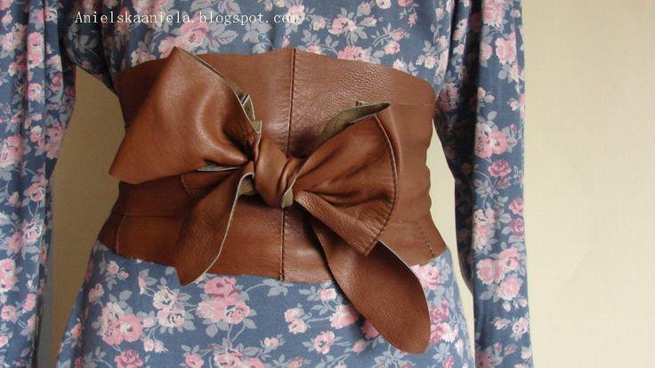DIY Leather obi belt pattern skórzany owijany pasek obi xxl inspirowany Dragon Age: Inquisition