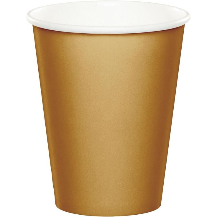 Glittering Gold 9 Ounce Paper Cups. (240/case)