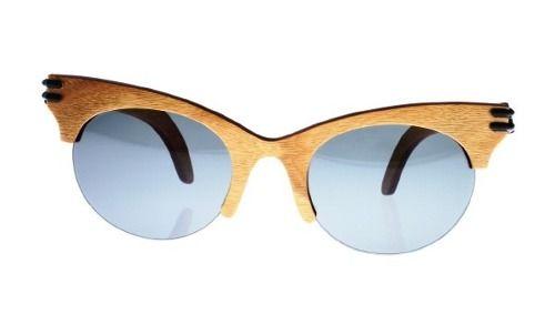 Gafas de sol en madera, filtro UV, Mujer, marca Maguaco S021. Maderas: Guayacán Guajiro y Ebano Sinuano. $200.000 COP