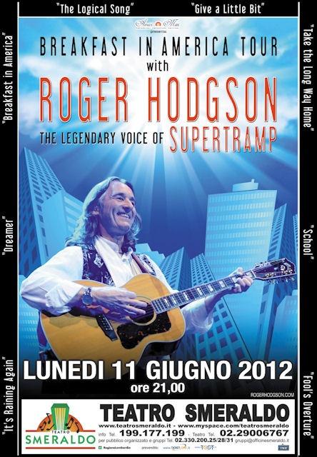 11 giugno @ Teatro Smeraldo  Roger Hodgson! The Legendary Voice of Supertramp