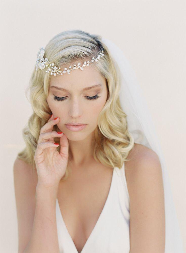 Bridal Hair Wreath, Crystal Hair Vine, Pearl Hair Garland ...