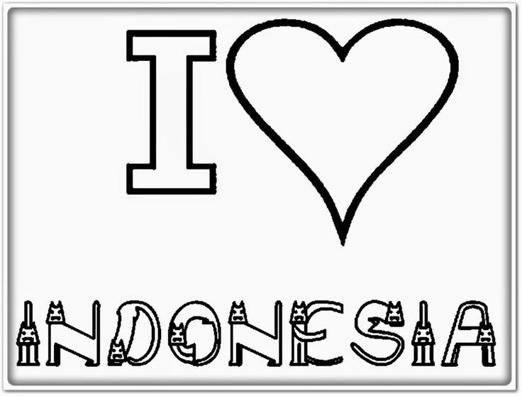 mewarnai gambar aku cinta indonesia
