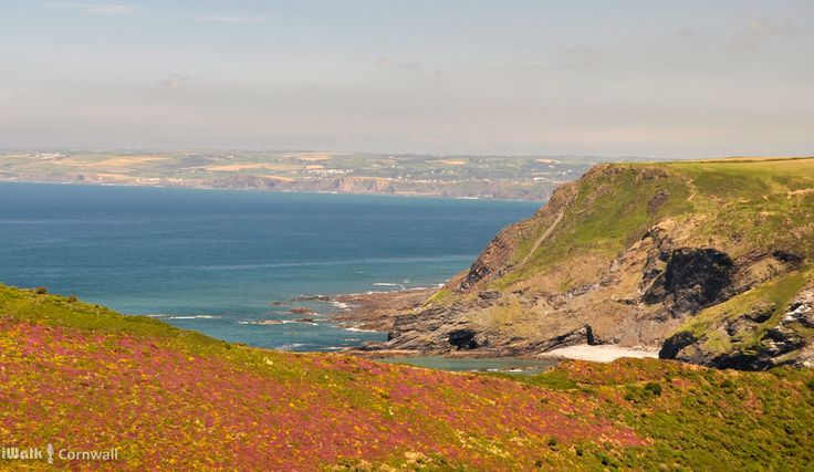 View towards Bude from Pencannow Point, Crackington Haven, Cornwall
