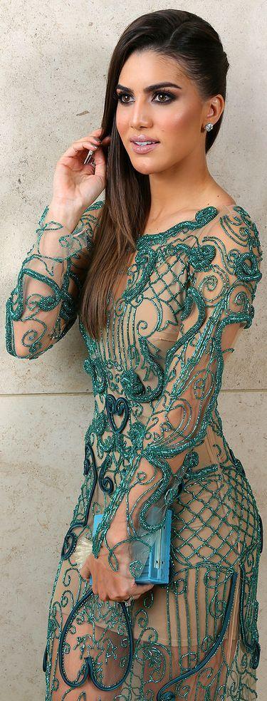 Fabiana Milazzo Green Embroidery Dress by Super Vaidosa