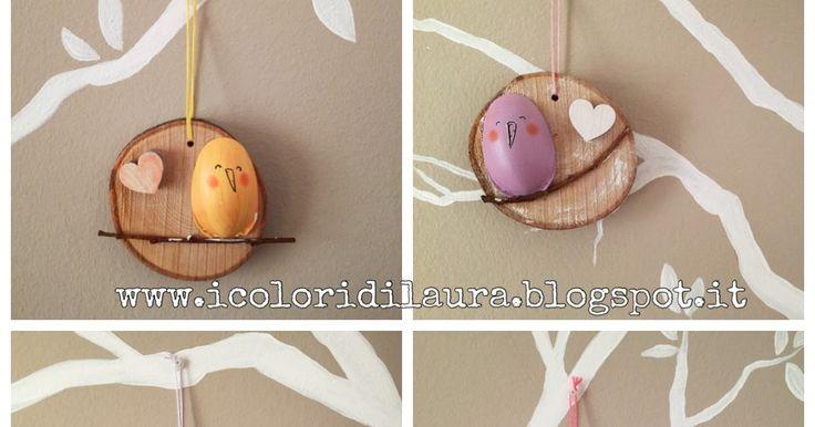icoloridilaura: CIP-ovetti riciclosi...decorazione pasquale con i cucchiai di plastica