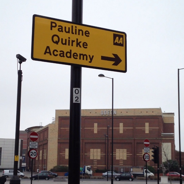 """Here in Southend we have the """"Pauline Quirke Academy."""" :)"""