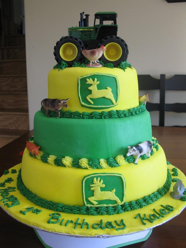 223 best John Deere Cakes images on Pinterest John deere cakes