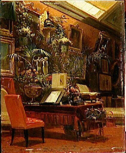 """Napoleon III's cousin, Princess Mathilde's salon was frequented by the intelligentsia of the time, her residence in Paris represented what was most """"chic"""" in decoration and furnishing."""
