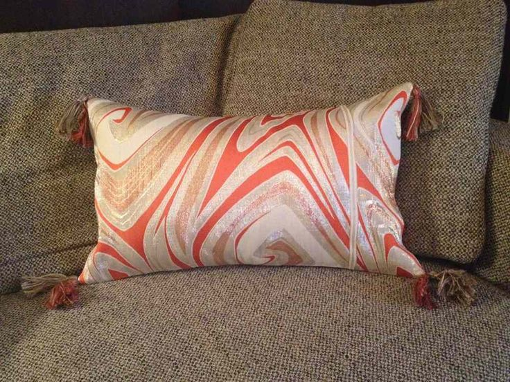 Japanese Obi pillow - with Tassels