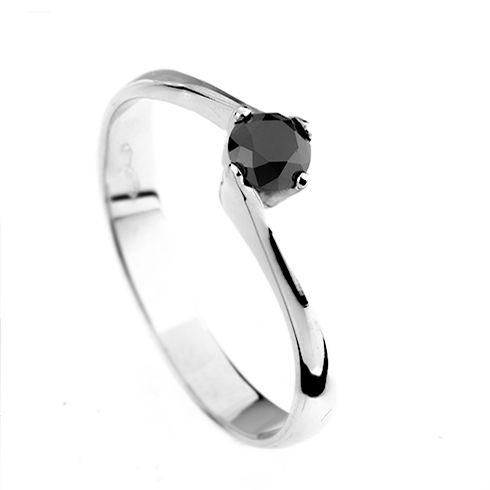 Inel cu diamant negru DR0599