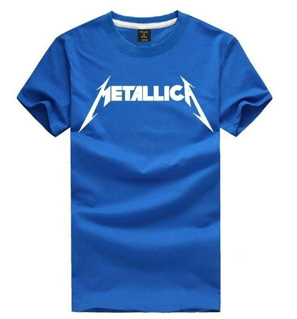 Grade A rock tee shirt James Hetfield tshirt METALLICA heavy metal music Thrash Metal t shirt short sleeve band t-shirt