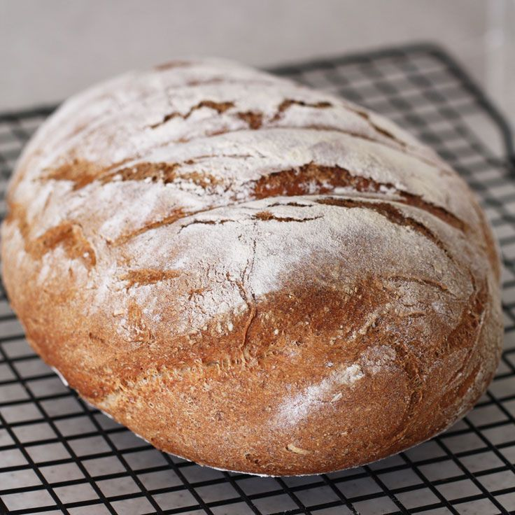 Dinkelbröd (spelt bread) is one of my favourite types of bread, as it has a nice nutty taste from the spelt flour whilst the use of wheat flour lightens it a bit. This recipe gives very consistent results and is really worth the effort. I actually enjoy kneading bread and the smell of bread baking is, of course, fantastic as it wafts through the house. Go on: try it!