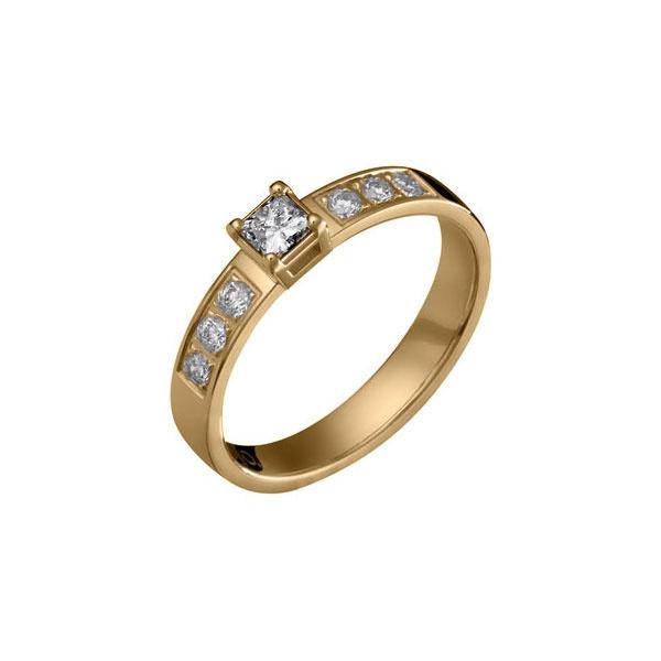 STAR SKY RING  Designer: Esko Hassinen  18 carat gold, Diamond 1 x0,20 + 6 x 0,03 ct or 18K white gold, Diamond 1 x0,20 + 6 x 0,03 ct