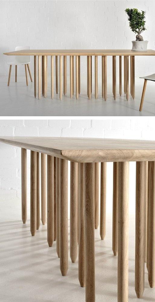 Rectangular wooden #table STILUS by Vitamin design #wood