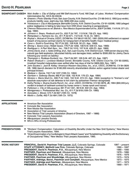 principal attorney resume example - Legal Resumes