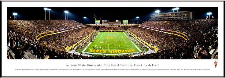 Arizona State University Sun Devils v. Missouri Tigers - Sun Devil Stadium Frank Kush Field Panoramic Picture $99.95