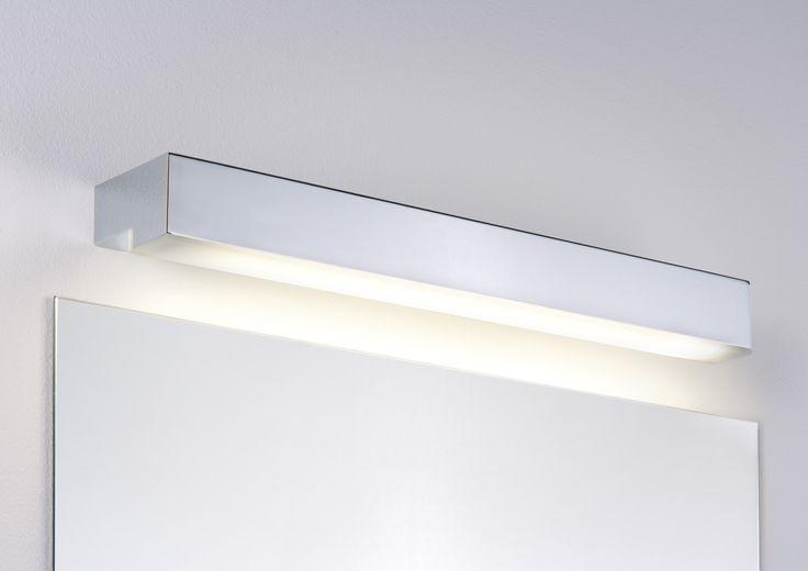 Picture Taru mirror lamp IP44 14 W - chrome, white, metal, acrylic, 703.66