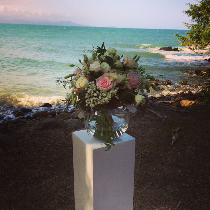 Gorgeous flowers from Nine Blooms at a Little Cove wedding in Port Douglas.  Wedding planning and coordination by Cairns Wedding Planner