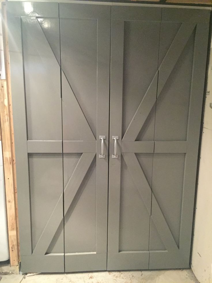 Diy Bi Fold Barn Doors Diy Furniture Build By Anna