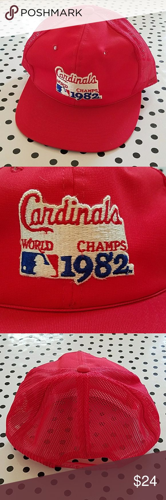Vintage 1982 St. Louis Cardinals World Series Hat Vintage 1982 St. Louis Cardinals World Series Hat. Vintage trucker snap back. Perfect condition! Vintage Accessories Hats