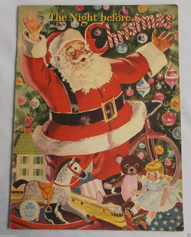 the night before christmas book vintage