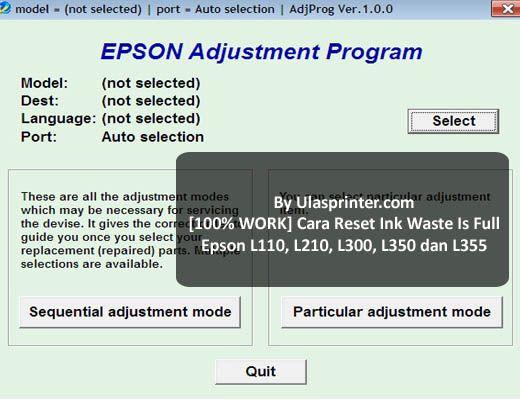 cara mereset printer epson l360 tanpa software