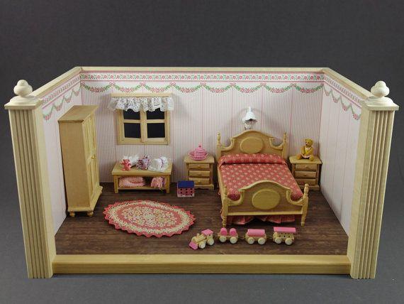 Vintage Set 13pc. German Doll House Room Box Bodo by ZeldaAndSkott