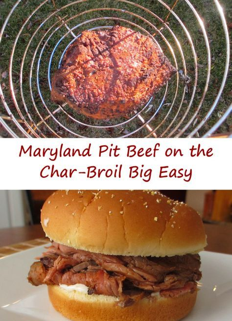 Not too long ago I made a Maryland-style pit beef on my smoker. It came out fantastic, but left me wanting to try the same idea again, but make it easier. And when I think easy, I think about my Char-Broil Big Easy. So off I went, and let me tell you, this Maryland pit beef is fantastic. The flavor is just insane. The meat is so tender and juicy, with just a bit of a nice crust. Perfect on a sandwich.
