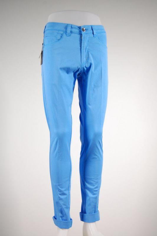 Fradi long Jeans in stretch cotton garment dyed. Made in Italy in four color.