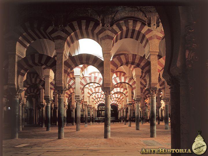Mezquita de Córdoba. Columnas del interior. 734-788. Abderraman I