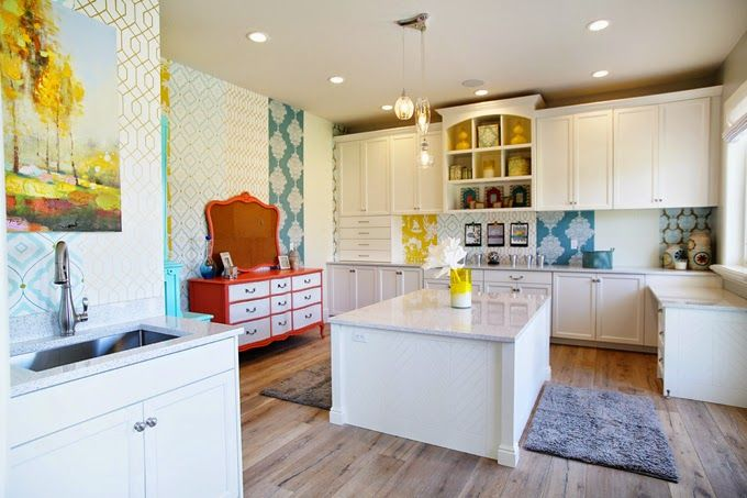 Eclectic craft room cre8ive studios pinterest for Eclectic crafts room