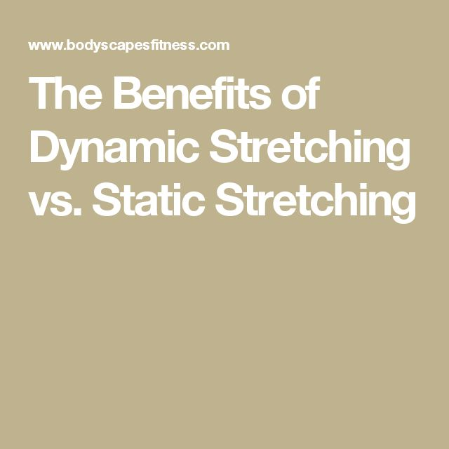 The Benefits of Dynamic Stretching vs. Static Stretching