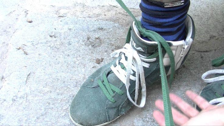 """#Lacci #Lunghi #scarpe legarli  Ho #cercato in #internet un modo per #legare i lacci lunghi ma non ho trovato #soluzioni, così ho deciso di #creare questo """"#tutorial""""  spero vi sia d'#aiuto!!! =)"""